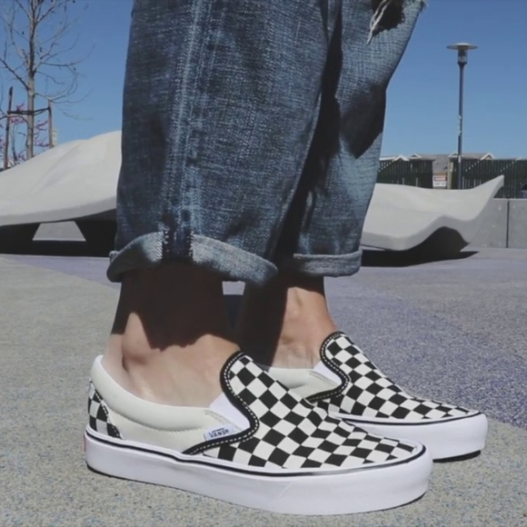 VANS SLIP-ON LITE CHECKERBOARD Skate Shoes Men's NWT